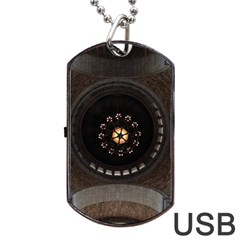 Pattern Design Symmetry Up Ceiling Dog Tag USB Flash (Two Sides)