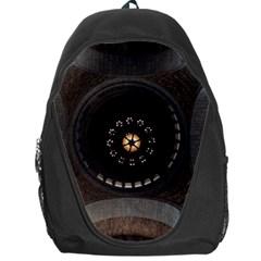 Pattern Design Symmetry Up Ceiling Backpack Bag