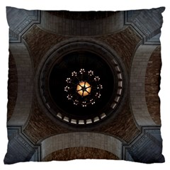 Pattern Design Symmetry Up Ceiling Large Flano Cushion Case (two Sides)