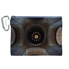Pattern Design Symmetry Up Ceiling Canvas Cosmetic Bag (XL)
