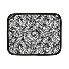 Gray Scale Pattern Tile Design Netbook Case (Small)