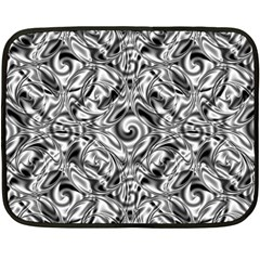 Gray Scale Pattern Tile Design Double Sided Fleece Blanket (mini)