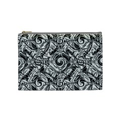 Gray Scale Pattern Tile Design Cosmetic Bag (Medium)