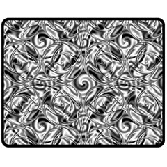 Gray Scale Pattern Tile Design Fleece Blanket (medium)