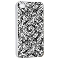 Gray Scale Pattern Tile Design Apple Iphone 4/4s Seamless Case (white)