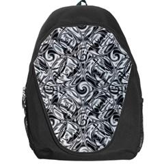 Gray Scale Pattern Tile Design Backpack Bag