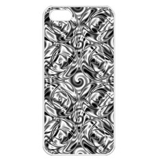 Gray Scale Pattern Tile Design Apple Iphone 5 Seamless Case (white)