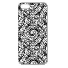 Gray Scale Pattern Tile Design Apple Seamless iPhone 5 Case (Clear)