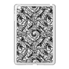 Gray Scale Pattern Tile Design Apple Ipad Mini Case (white)