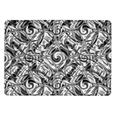 Gray Scale Pattern Tile Design Samsung Galaxy Tab 10.1  P7500 Flip Case