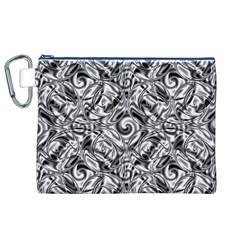 Gray Scale Pattern Tile Design Canvas Cosmetic Bag (xl)