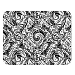 Gray Scale Pattern Tile Design Double Sided Flano Blanket (large)