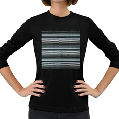 Sheet Holes Roller Shutter Women s Long Sleeve Dark T-Shirts