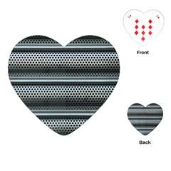 Sheet Holes Roller Shutter Playing Cards (heart)