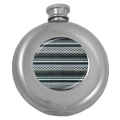 Sheet Holes Roller Shutter Round Hip Flask (5 Oz)