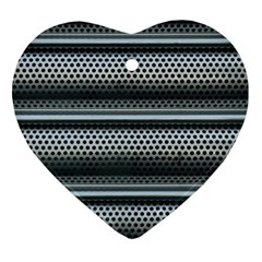 Sheet Holes Roller Shutter Heart Ornament (two Sides)