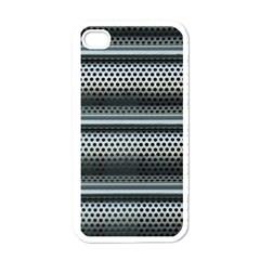 Sheet Holes Roller Shutter Apple iPhone 4 Case (White)
