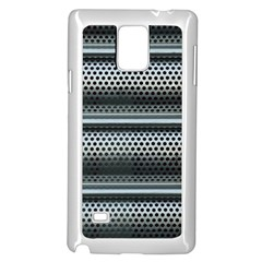 Sheet Holes Roller Shutter Samsung Galaxy Note 4 Case (White)