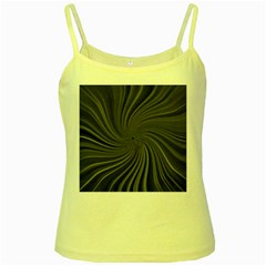 Abstract Art Color Design Lines Yellow Spaghetti Tank