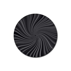 Abstract Art Color Design Lines Rubber Coaster (round)