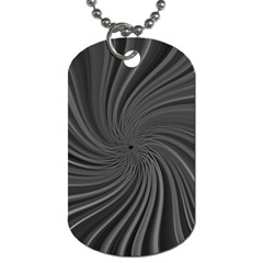 Abstract Art Color Design Lines Dog Tag (One Side)