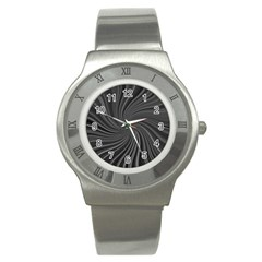 Abstract Art Color Design Lines Stainless Steel Watch