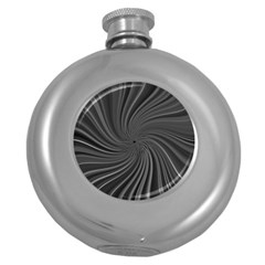 Abstract Art Color Design Lines Round Hip Flask (5 Oz)