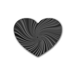 Abstract Art Color Design Lines Rubber Coaster (heart)
