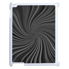 Abstract Art Color Design Lines Apple iPad 2 Case (White)