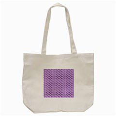 Pattern Background Violet Flowers Tote Bag (Cream)