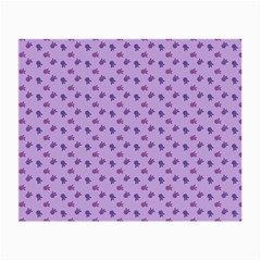 Pattern Background Violet Flowers Small Glasses Cloth