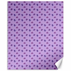 Pattern Background Violet Flowers Canvas 16  x 20