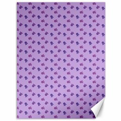 Pattern Background Violet Flowers Canvas 36  X 48
