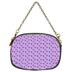 Pattern Background Violet Flowers Chain Purses (two Sides)