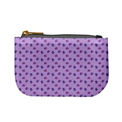 Pattern Background Violet Flowers Mini Coin Purses