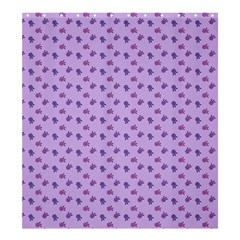 Pattern Background Violet Flowers Shower Curtain 66  X 72  (large)