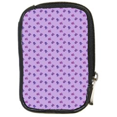 Pattern Background Violet Flowers Compact Camera Cases
