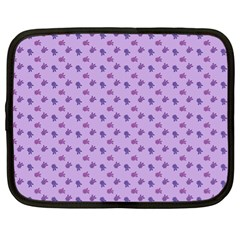 Pattern Background Violet Flowers Netbook Case (xl)