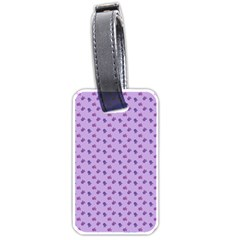 Pattern Background Violet Flowers Luggage Tags (Two Sides)