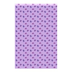 Pattern Background Violet Flowers Shower Curtain 48  x 72  (Small)