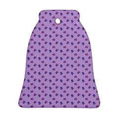 Pattern Background Violet Flowers Bell Ornament (two Sides)