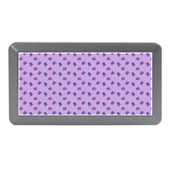 Pattern Background Violet Flowers Memory Card Reader (Mini)