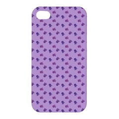 Pattern Background Violet Flowers Apple iPhone 4/4S Hardshell Case