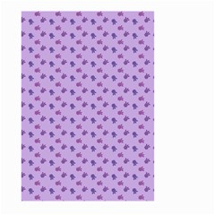 Pattern Background Violet Flowers Large Garden Flag (two Sides)