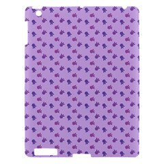 Pattern Background Violet Flowers Apple Ipad 3/4 Hardshell Case