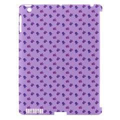 Pattern Background Violet Flowers Apple iPad 3/4 Hardshell Case (Compatible with Smart Cover)