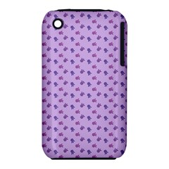 Pattern Background Violet Flowers Iphone 3s/3gs