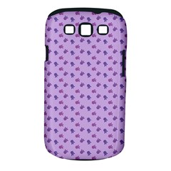 Pattern Background Violet Flowers Samsung Galaxy S Iii Classic Hardshell Case (pc+silicone)