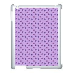 Pattern Background Violet Flowers Apple Ipad 3/4 Case (white)