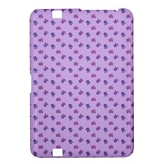 Pattern Background Violet Flowers Kindle Fire Hd 8 9